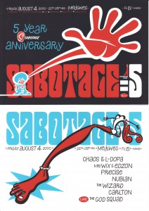 22 Sabotage aug.2000 (design-Shamrock)